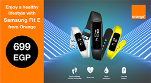 Enjoy a healthy life style with Samsung Fit E from Orange