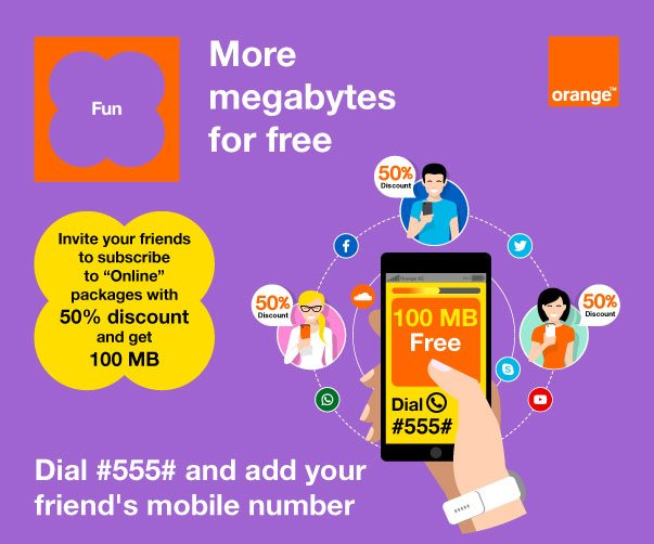 Invite your friends and Get 100 MBs for free