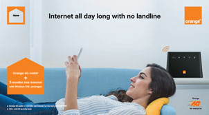Internet at home all day long with no landline