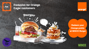 Redeem your Points at MINCE burger exclusively for Eagle
