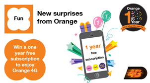 One year free subscription from Orange