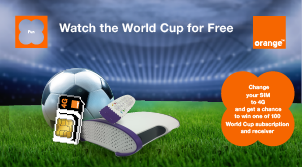 Free World Cup with the 4G SIM