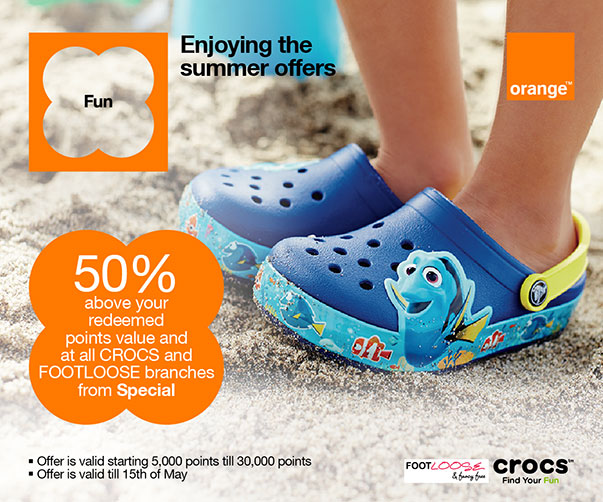 CROCS and Footloose points offer